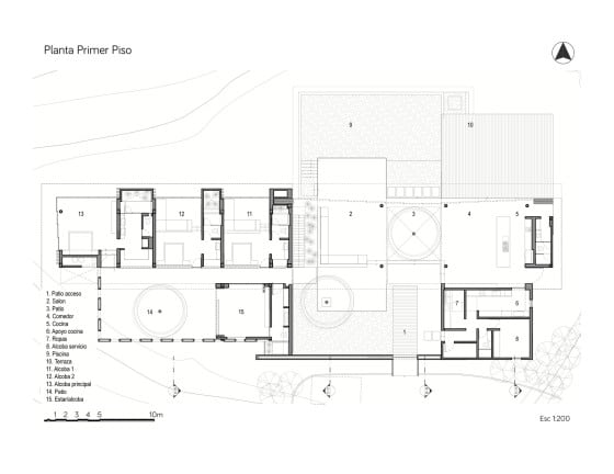 Planos de casa de campo de un piso