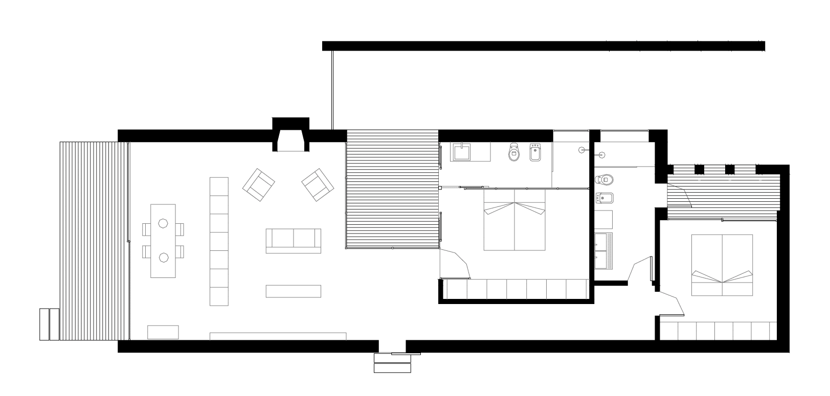 Planos de casa peque a de un piso con cerco perim trico for Planos para construccion casas pequenas