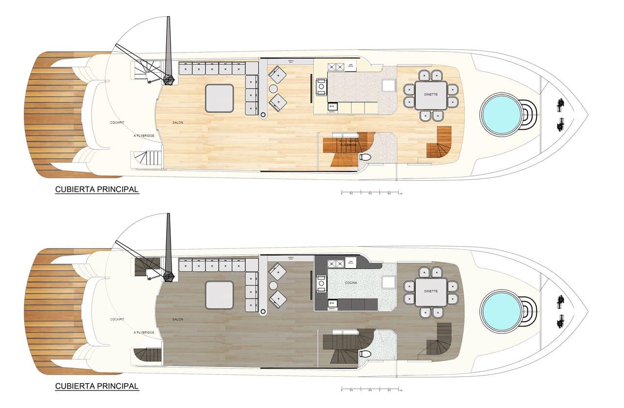 Dise o de planos de distribuci n de un moderno barco for Diseno de interiores de casas planos