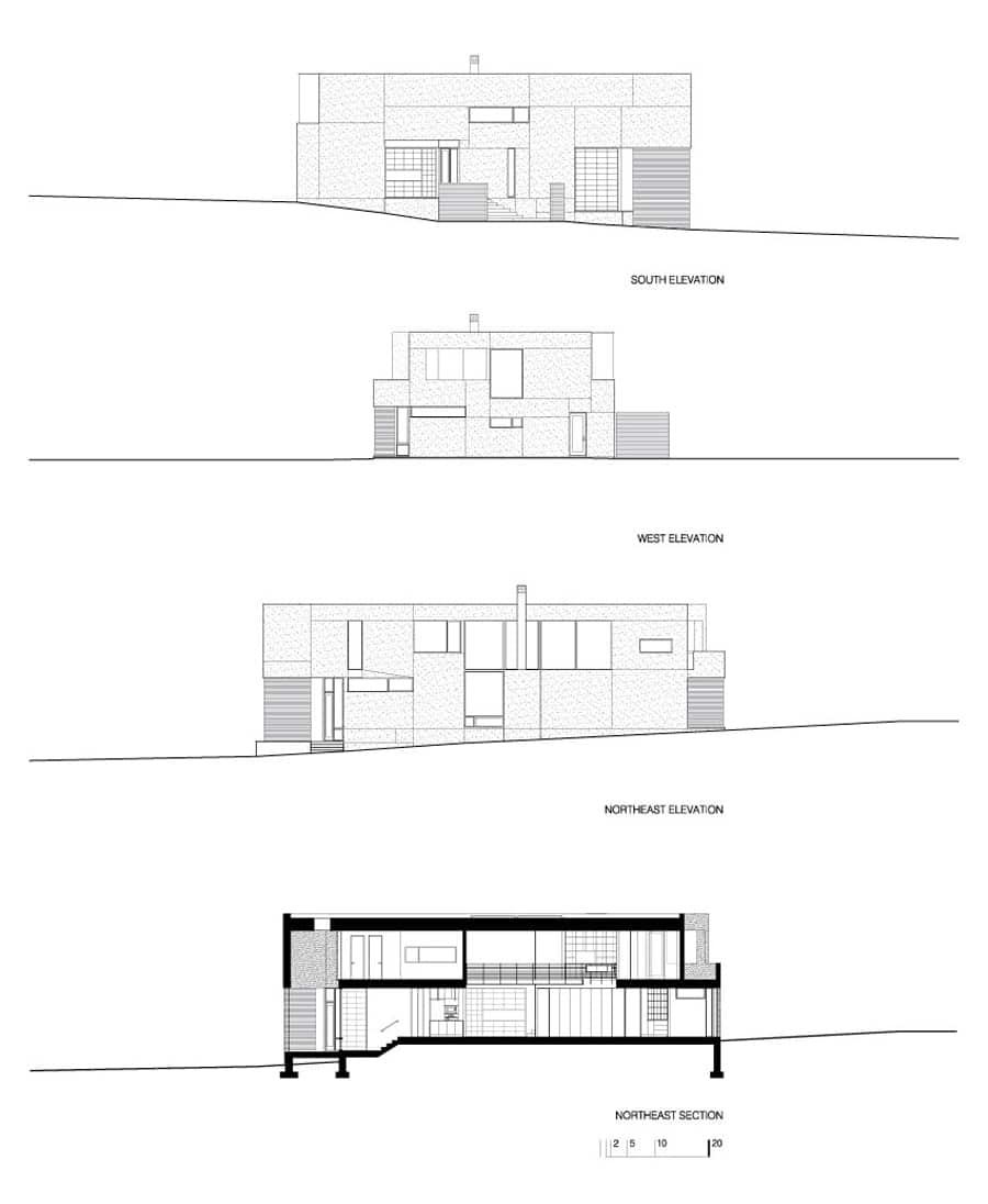 Planos de elevaci n casa terreno triangular construye hogar - Crear planos casa ...