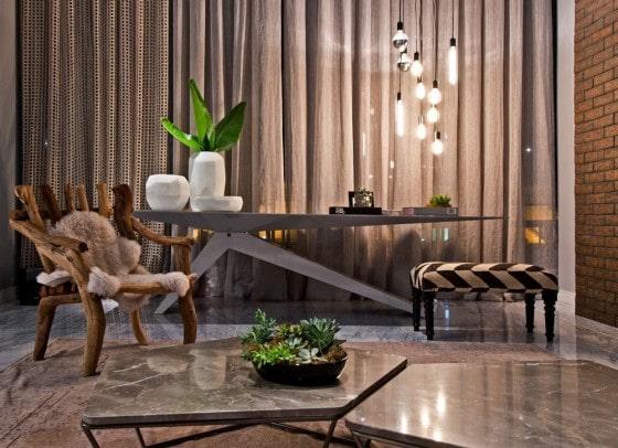 Decoración moderna apartamento mueble rústico y moderno