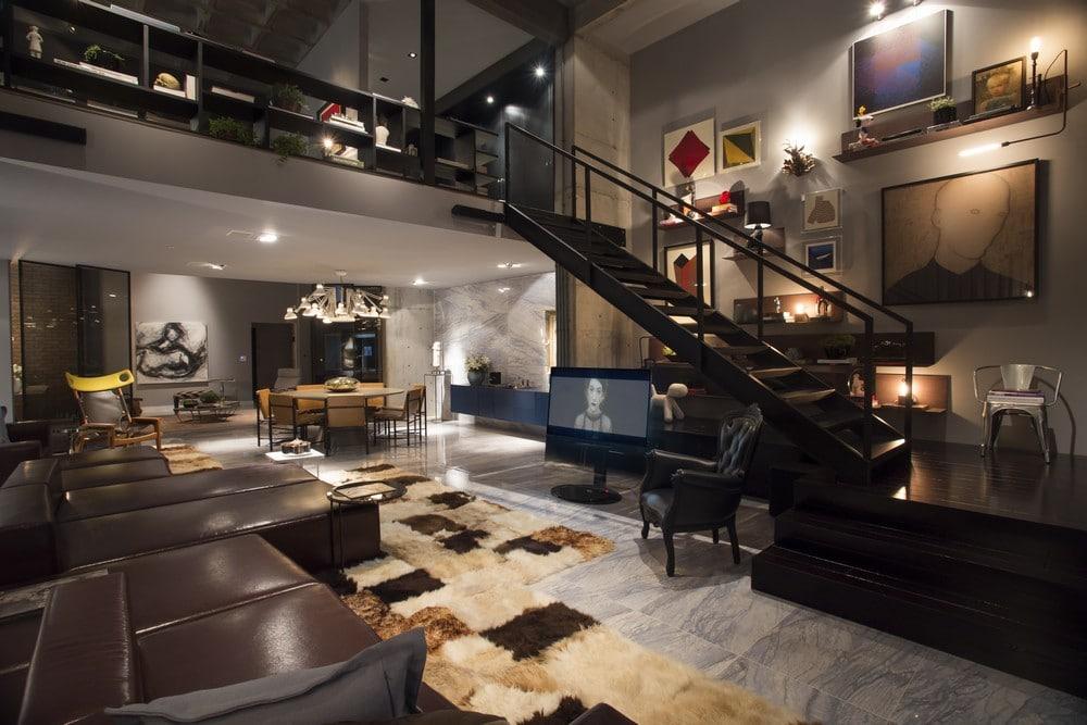 dise o de apartamento tipo loft moderna decoraci n