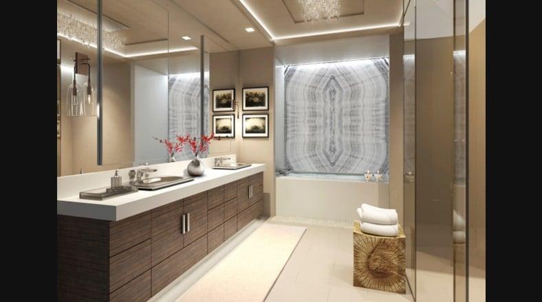 Interiores de ba os lujosos for Cuartos de bano beige