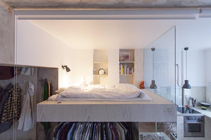 Dise o de planos de apartamento peque o de un dormitorio - Diseno de interiores dormitorios pequenos ...