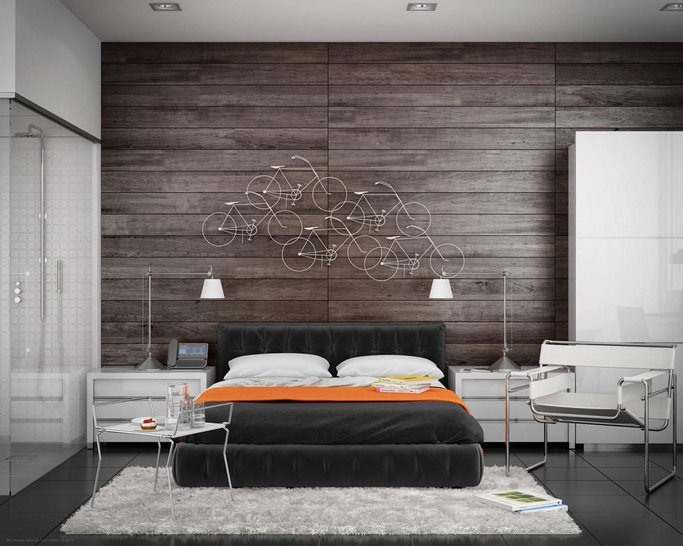diseo de dormitorio moderno con cuarto de bao