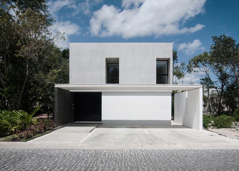 Dise o de casa minimalista de dos pisos planos y fachadas for Casas prefabricadas de diseno minimalista