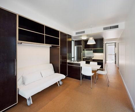 Diseño de interiores de casa  modular