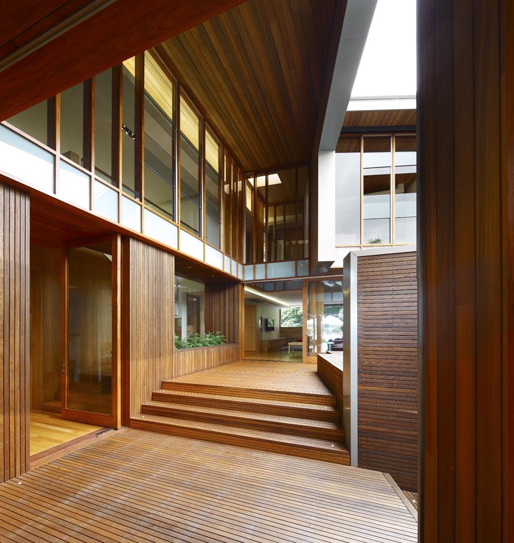 Dise o de casa moderna de dos plantas fachada e for Interior de casas modernas
