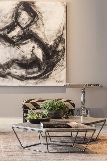 Diseño de mesa de centro y pintura