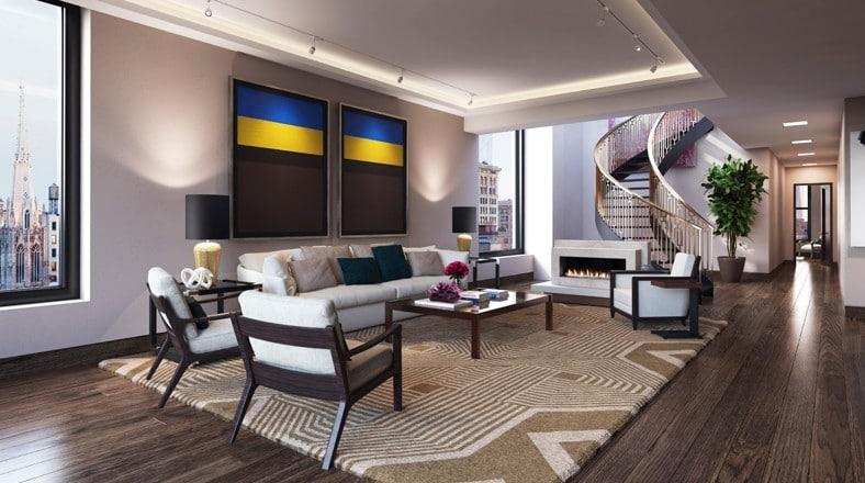 Decoracion De Baños Departamentos:Diseño de sala de lujo de apartamento de Leonardo DiCaprio