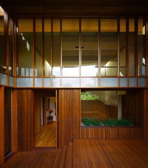Enchapado de madera en interiores