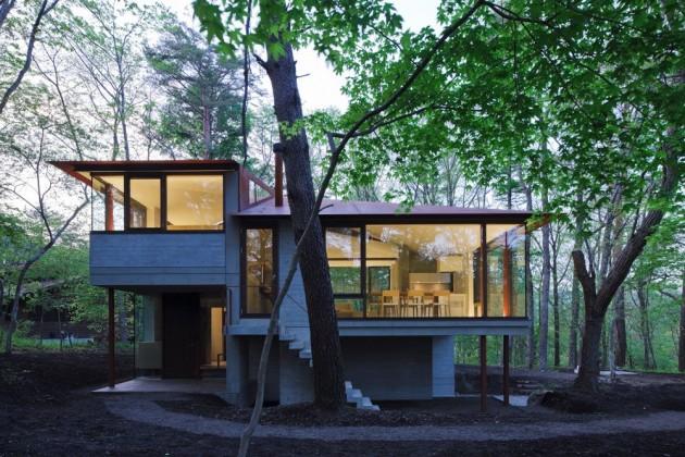 Dise o de casa de campo moderna construida en concreto for Architecture japonaise contemporaine
