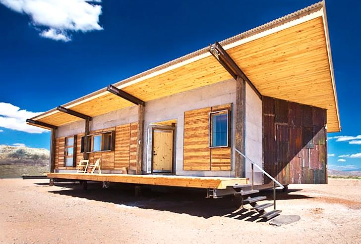 Dise o de casa peque a reciclada materiales construcci n - Casa pequena de madera ...