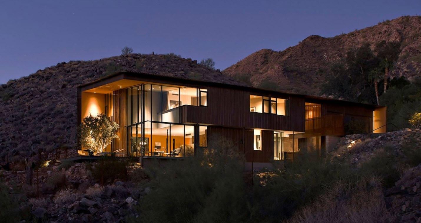 Dise o de casa moderna de dos pisos planos y fachada for Casa moderna immagini