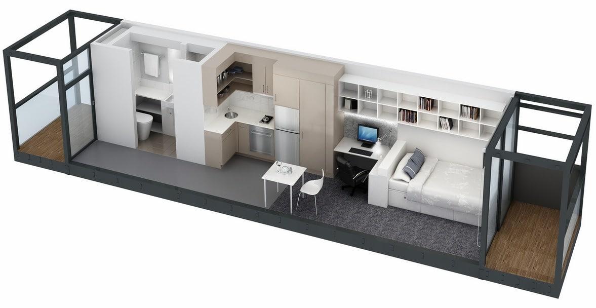 Planos De Apartamentos Pequeos Un Dormitorio Diseos