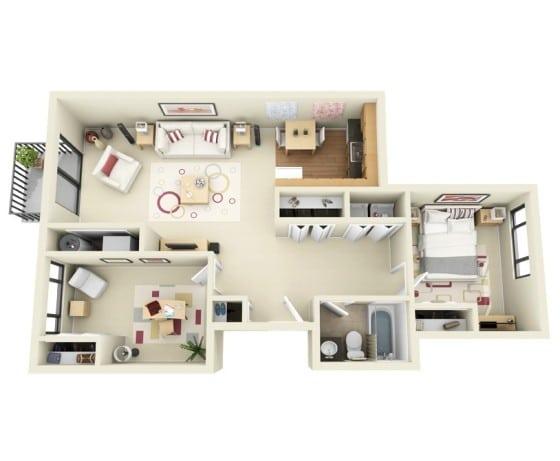 Planos de apartamentos en 3d dise os modernos construye for Diseno de planos