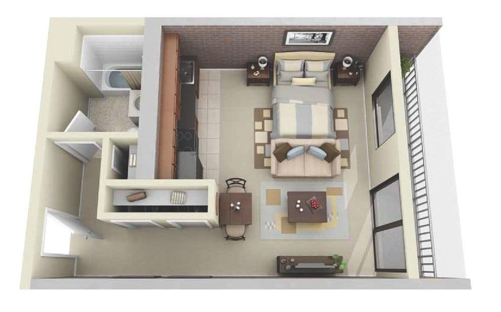 Plano De Apartamento Muy Pequeo Jefferson Hills
