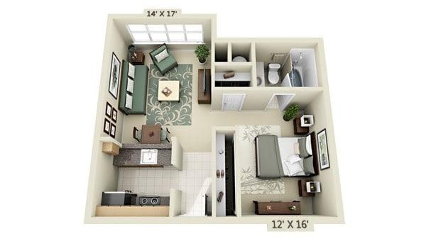 Planos De Apartamentos Peque 241 Os De Un Dormitorio Dise 241 Os