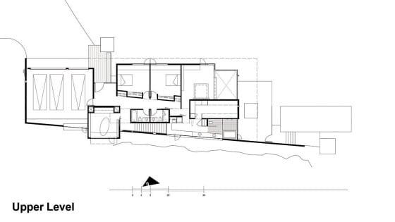 Plano de casa de dos pisos de casa moderna