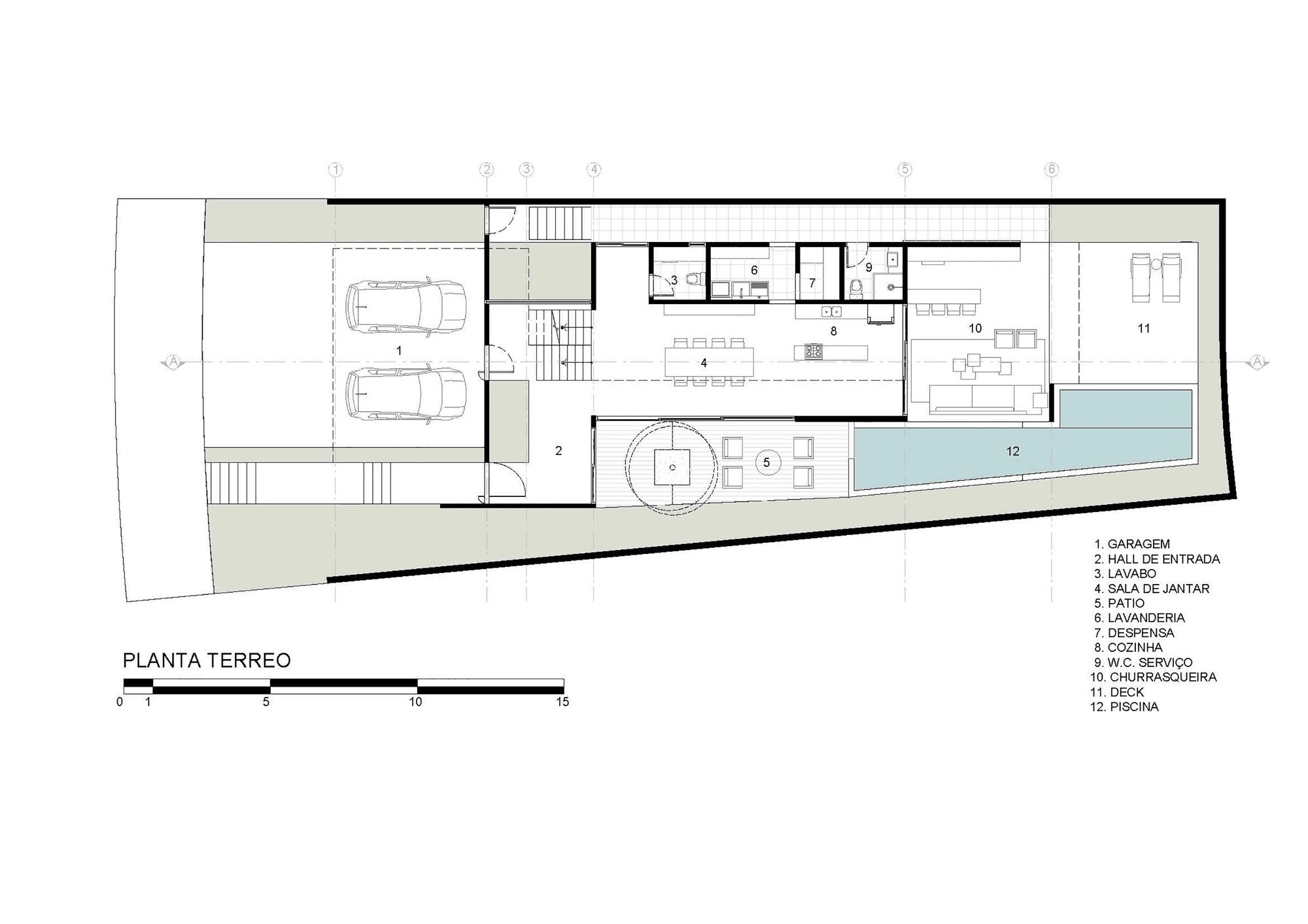 Dise o de moderna casa de dos pisos con fachada y planos for Planos de casas minimalistas grandes