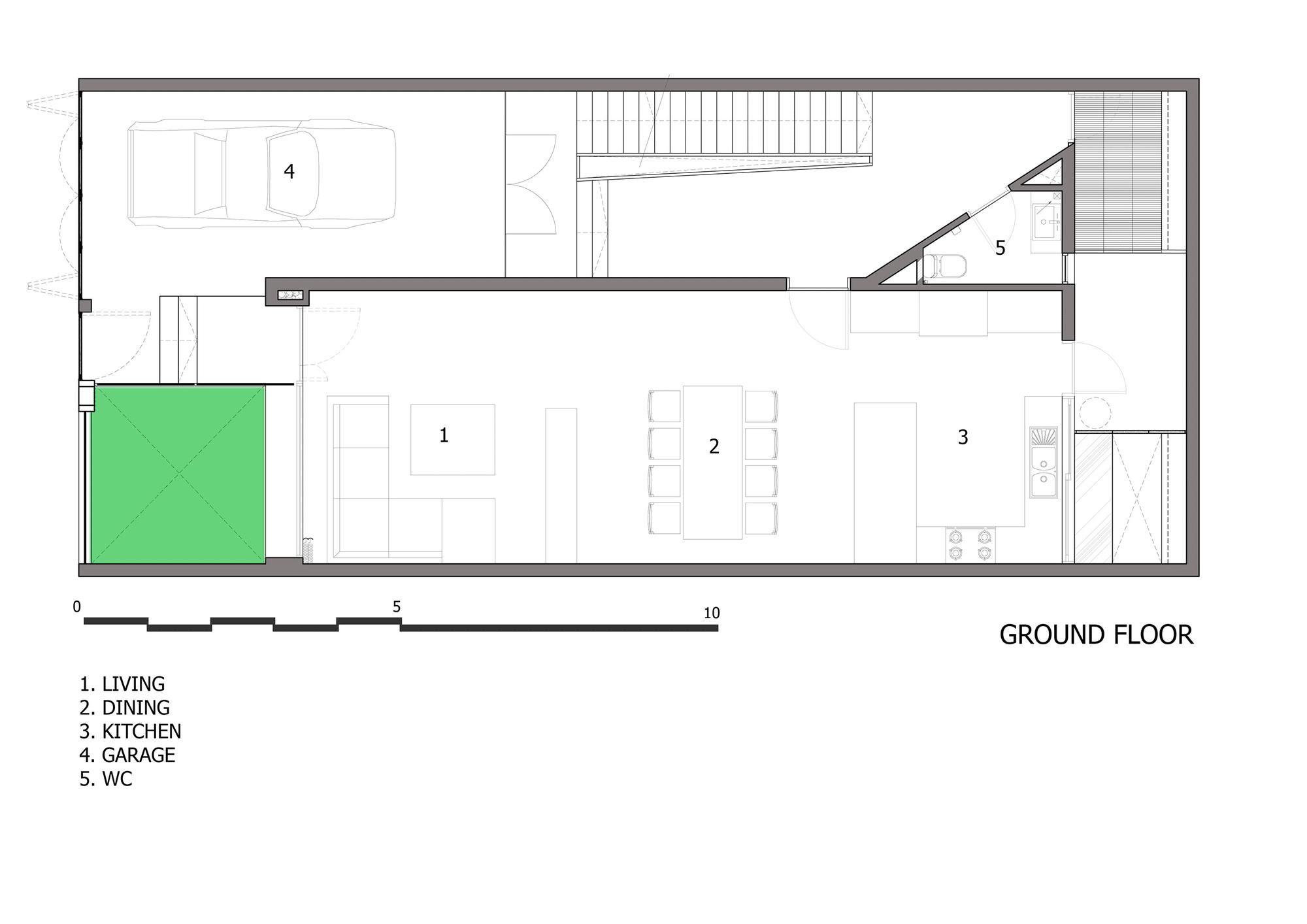 Dise o de casa moderna de tres pisos planos y fachada for Creador de planos sencillos para viviendas y locales