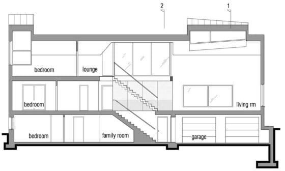 Plano de corte de casa ecológica