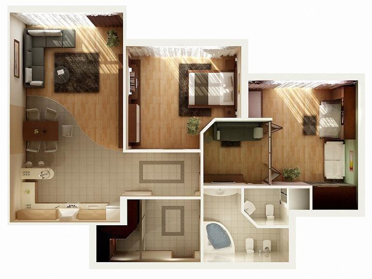 Planos de apartamentos en 3d dise os modernos construye - Maquetas de chalets ...