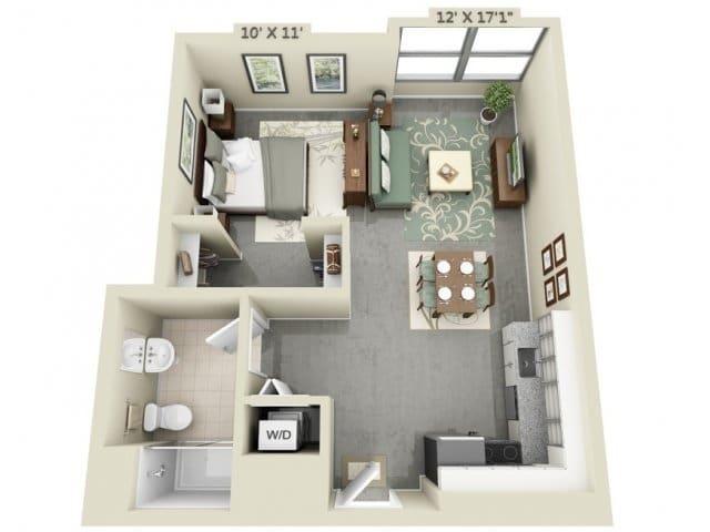 Planos De Apartamentos Peque 241 Os De Un Dormitorio Dise 241 Os Construye Hogar