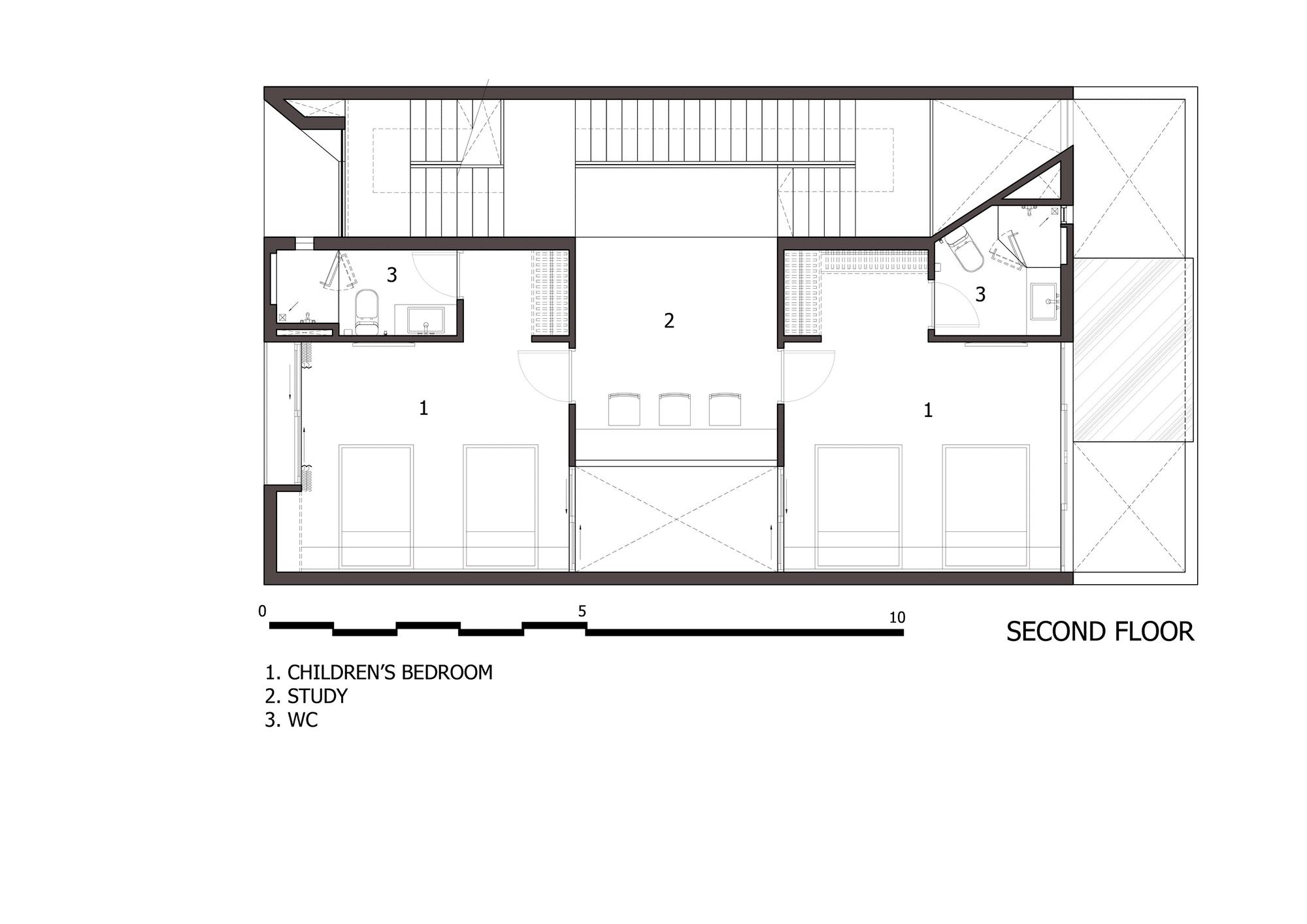 Dise o de casa moderna de tres pisos planos y fachada for Planos para segundo piso