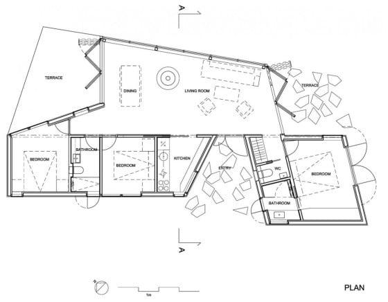 Planos de casa  de un piso de metal