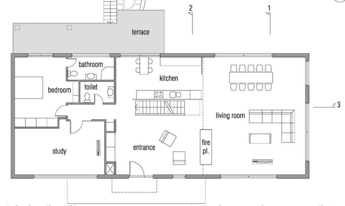 Dise o de casa pasiva de dos pisos fachada y planos - Planos de una vivienda ...