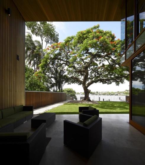 Diseño de terraza con jardín