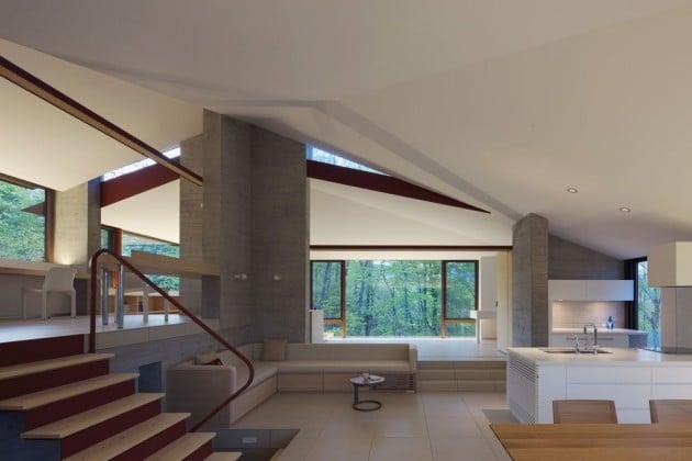Diseo De Casa Campo Moderna Construida En Concreto