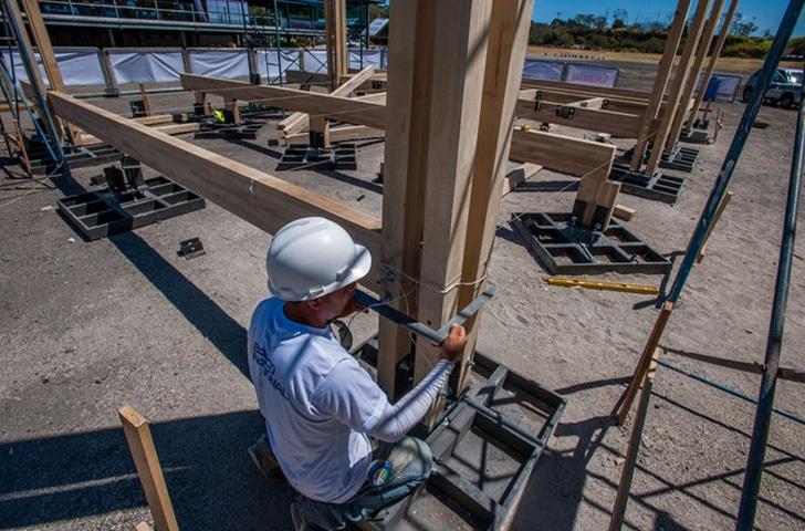 Dise o de casa peque a de madera autosustentable - La casa de la construccion ...