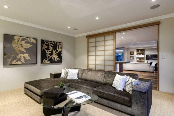Decoración de interiores estilo japonés de hall