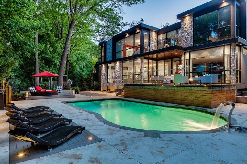 Casa de dos pisos planos y decoraci n construye hogar - Casas de madera con piscina ...