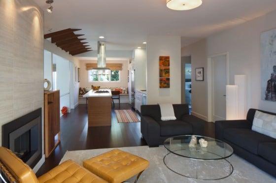 Diseño de sala y cocina linea