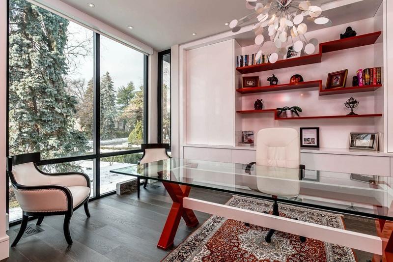 Dise o de cuarto de estudio moderno construye hogar - Estudios decoracion de interiores ...