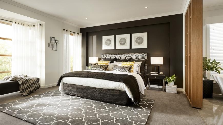 Decoracion De Un Baño Principal:Casa de un piso moderna con hermosa fachada y diseño de interiores