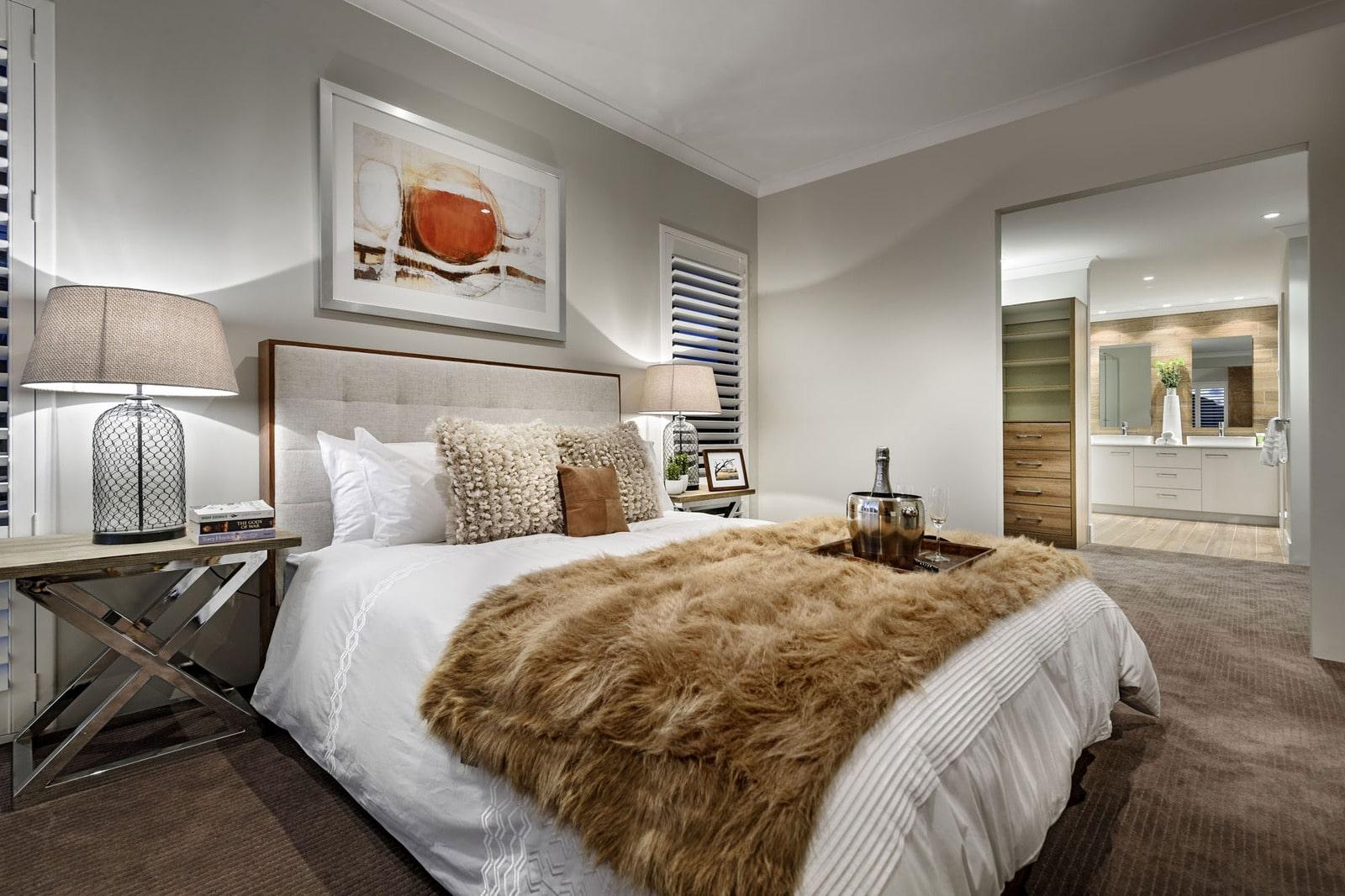 Dise o de casa moderna de dos pisos fachada e interiores for Modelos de habitaciones infantiles