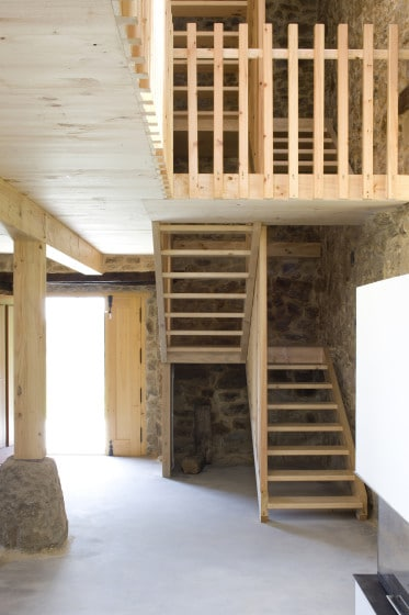 Diseño de escaleras de madera sencillas