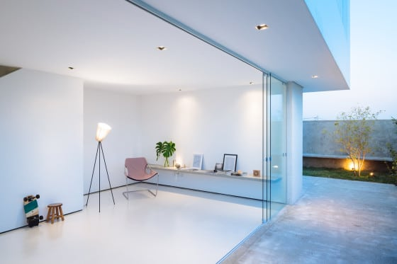 Diseño de estudio de casa minimalista