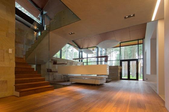 Casa de campo con planos dise o de fachada e interiores - Interiores rusticos de casas ...
