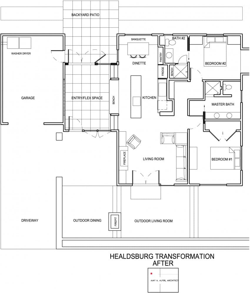 Dise o de casa de una planta planos fachada e interior - Planos casa una planta ...
