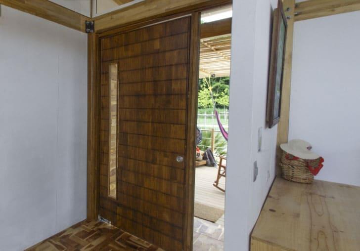 dise o de casa peque a de madera autosustentable