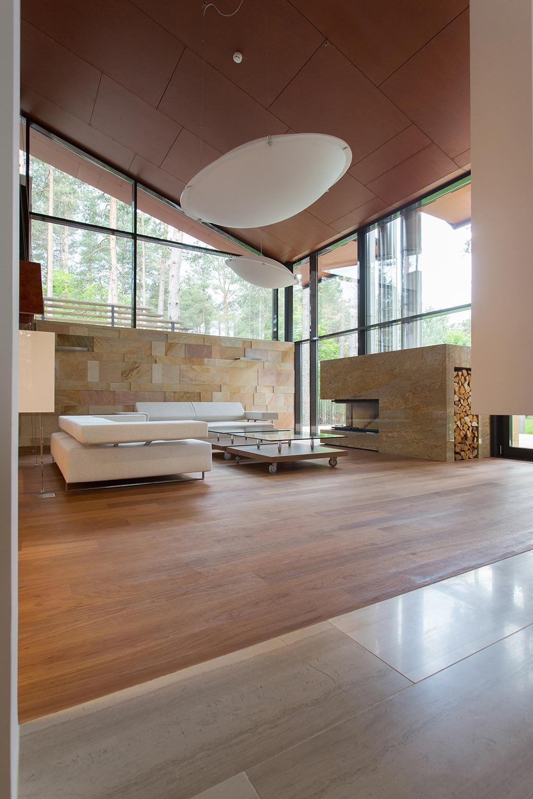 Casa de campo con planos dise o de fachada e interiores - Diseno chimeneas modernas ...