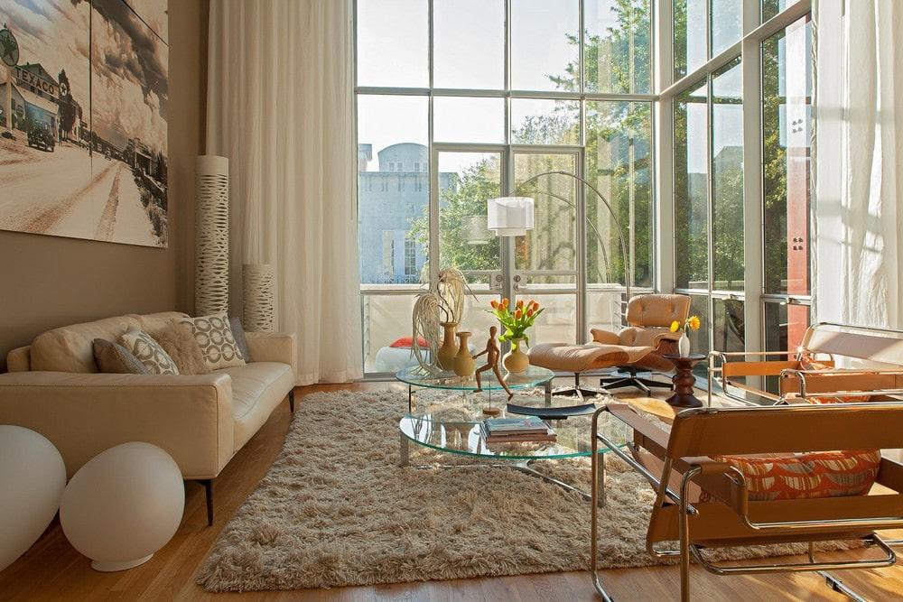 Decoracion Ventanas Interiores ~   en esquina, construida en hormig?n y con interiores muy iluminados