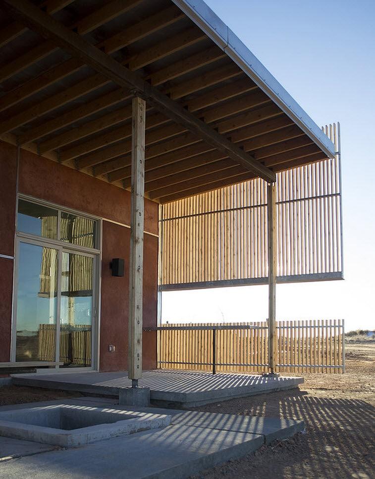 Plano de casa peque a con moderna fachada m s interiores - Diseno de casas de madera ...
