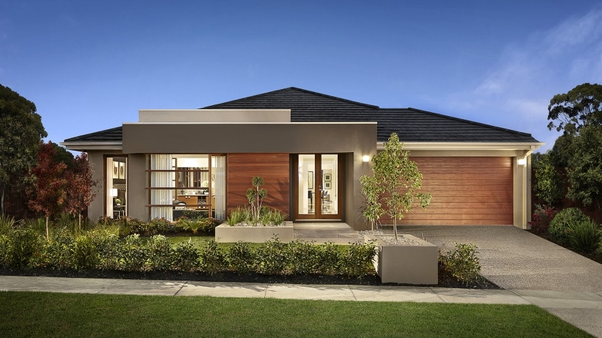 Casa de un piso moderna dos fachadas y dise o interior for Fachadas pisos modernas