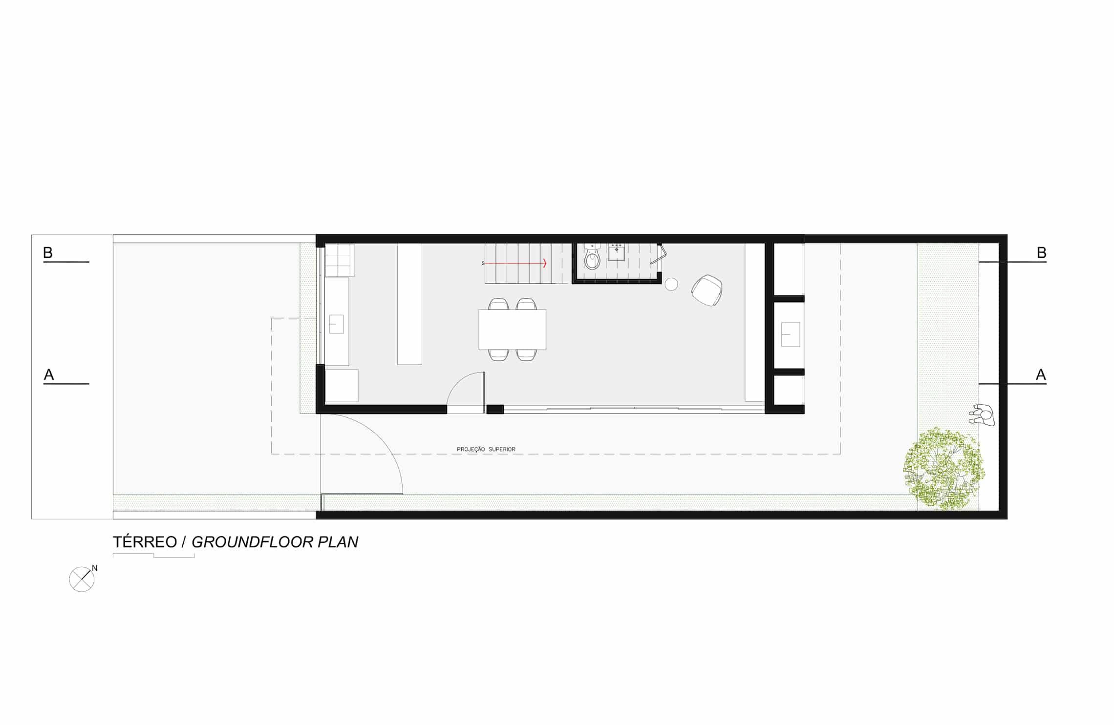 Sencilla casa de dos pisos con planos y dise o de for Departamentos minimalistas planos